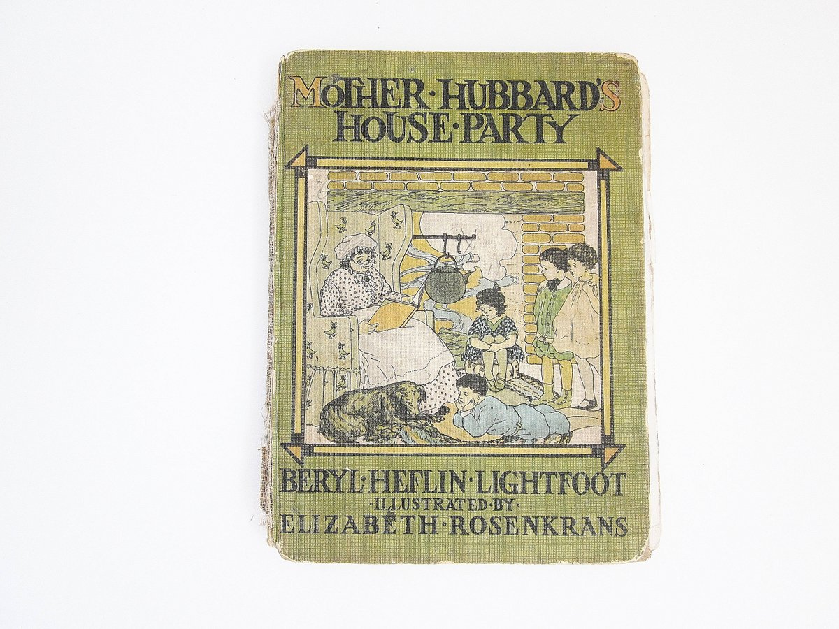 1916 Antique Vintage Childrens Book Mother Hubbard's House Party by Beryl Lightfoot Illustrated by Elizabeth Rosenkrans Whitman Publication https://etsy.me/2XjcMiy  #booksandzines #book #children #green #1916childsbooks #antiquebook #vintagebook #childrensbook pic.twitter.com/eVHD27JRfv