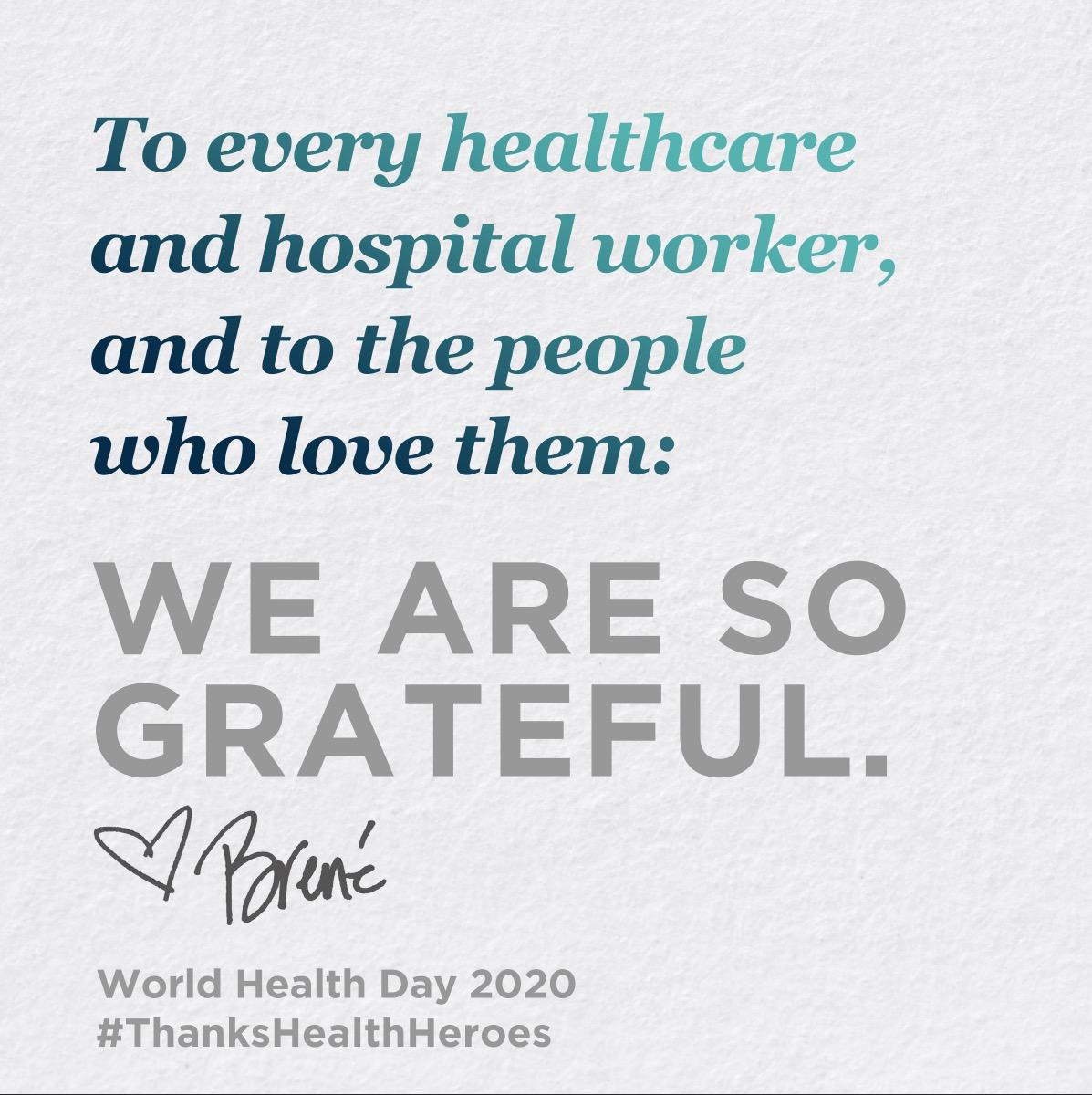 Clean hands. Grateful heart. #ThanksHealthHeroes