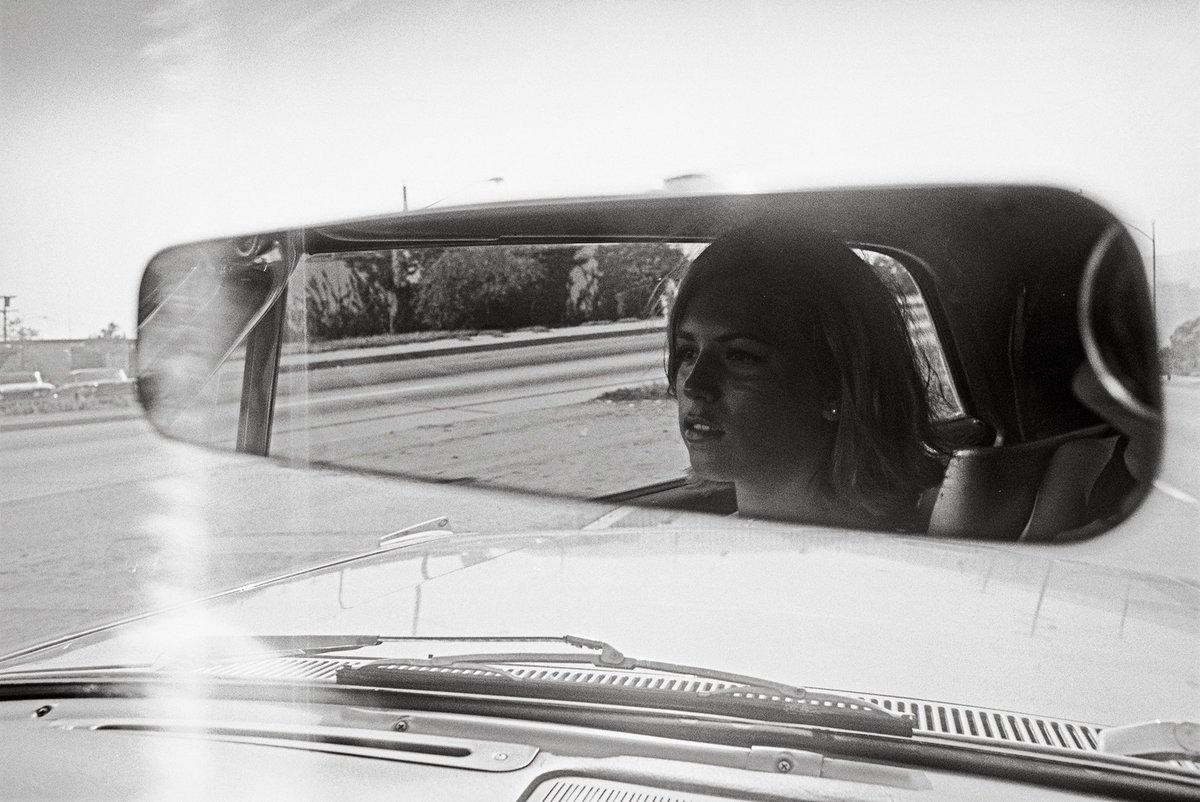 "Dennis Hopper #photography  ""Girl in Rear-view Mirror,"" 1961–67. pic.twitter.com/8FEwNuR3w0"