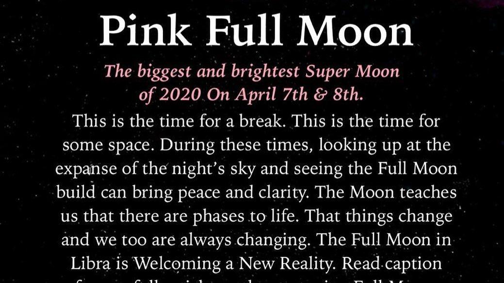 "The upcoming "" Pink Super Full Moon"" is coming tonight    Credit #moonomens  ..  #pinkmoon #fullmoon #moon #supermoon #April2020 #UnitedStates #IndiaLockdown #CoronaTigerForce #MoonLovers #fullmoonlive #NASAatHome #NASApic.twitter.com/U75fUQSLJx"