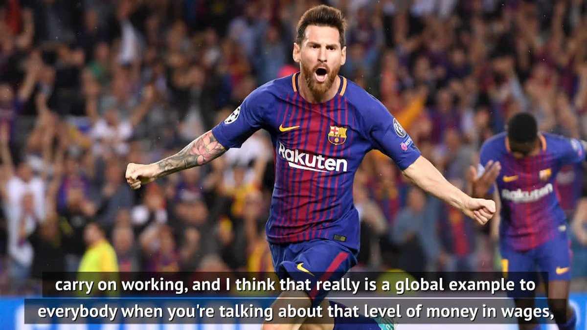 Top player, top man. Lionel Messi is setting examples across the board 🙏 - @TomBatesCoachng