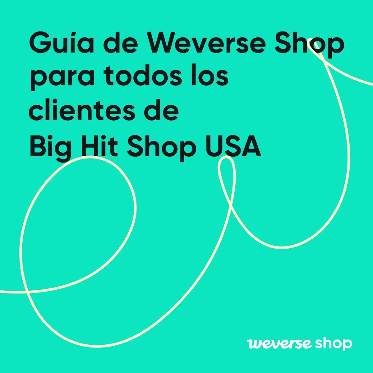 ¡De Big Hit Shop USA a Weverse Shop USA! Si es tu primera vez en Weverse, aquí está nuestra guía sobre cómo comenzar. Descargar Weverse Shop 👉 app.weverseshop.io/h7bwis