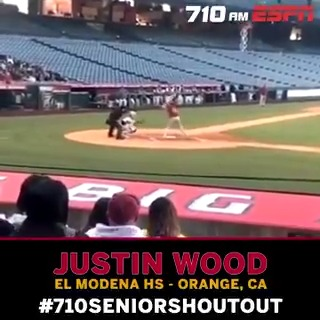 .@AllenSliwas #710SeniorShoutout is @Jwooo24 from the @ElModenaHS baseball team! ⚾️ Celebrate his accomplishments & listen LIVE at 7:40 PM on 710 AM ESPN 📻 bit.ly/ListenLA