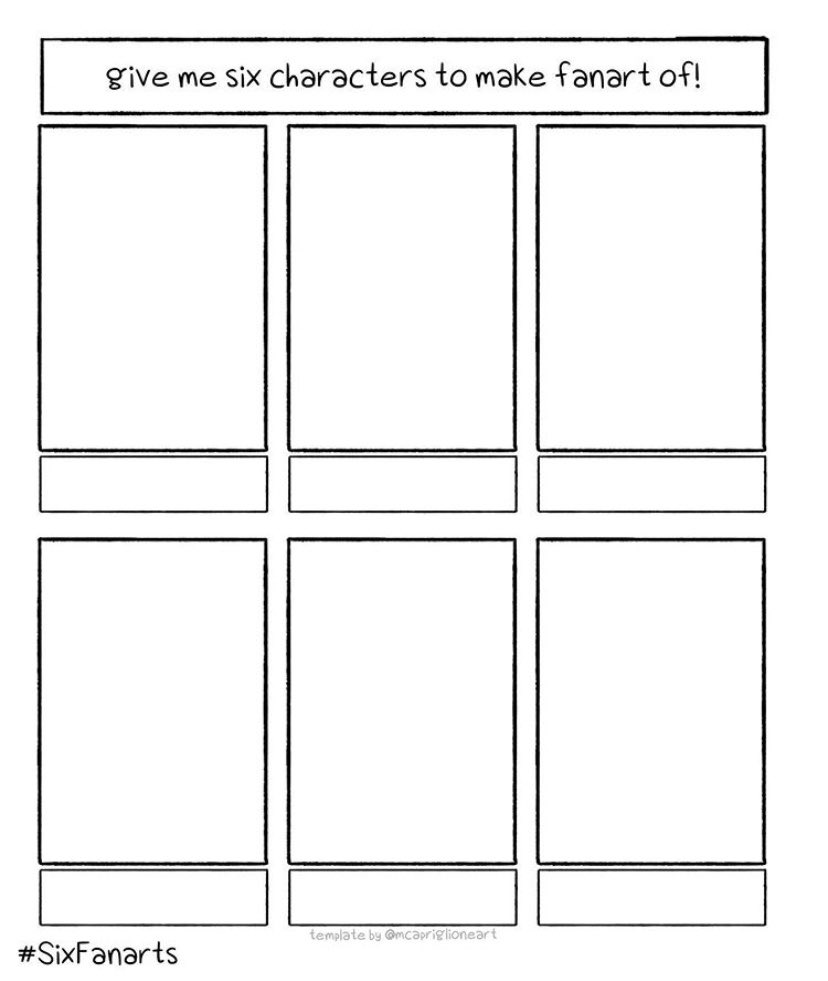 I wanna take a break from drawing boring backgrounds so give me 6 webtoon characters to sketch :)