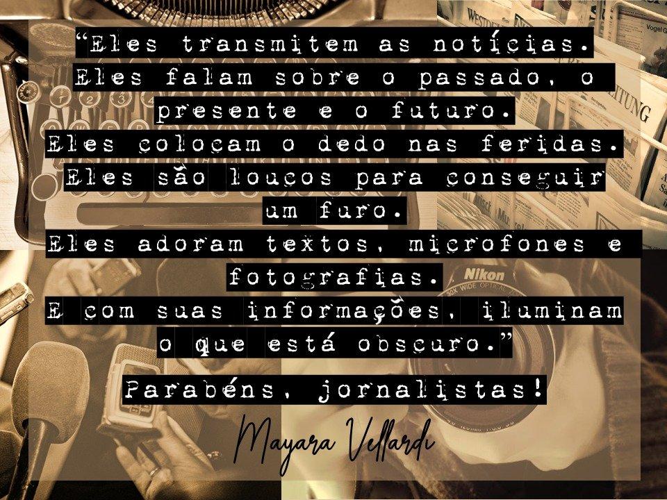 Parabéns a todos nós, JORNALISTAS! Porque hoje, 7 de abril, é o nosso dia! #jornalismo #jornalista #jornalistas #jornal #diadojornalista #7deabril #noticias #noticia