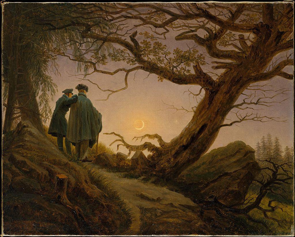 Two Men Contemplating the Moon (c. 1825–30) by Caspar David Friedrich (Germany, 1774-1840). The Met. #FullMoon #Lunarpic.twitter.com/VJ94dMAG2E