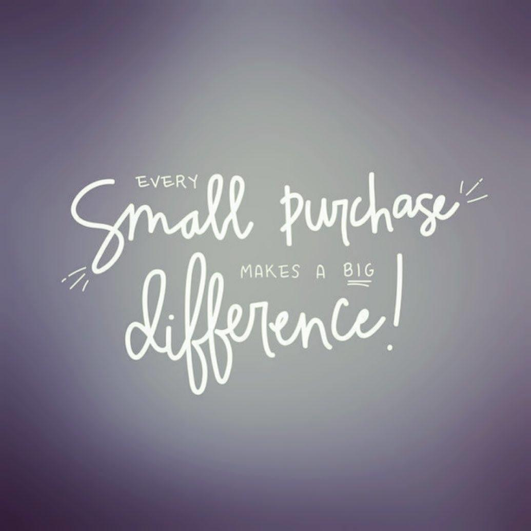 Every small purchase truly makes a big difference for a small business! #standwithsmall #supporthandmade #shopsmall