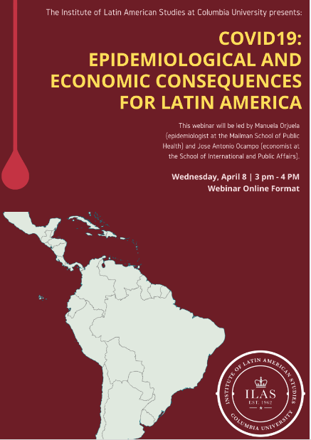 The Santiago Center invites you to participate in a webinar addressing the heath and economic impacts of #Covid_19 in #LatinAmerica.  Date: Wed, Apr 8 Time: 3:00 to 4:00 PM Chilean time. Use this link to access: https://tinyurl.com/rax2apkpic.twitter.com/mXcaA7uA2T