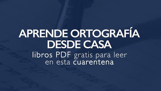 Los mejores libros PDF sobre #ortografía para leer en cuarentena http://sco.lt/7xTD72 #educacionpic.twitter.com/v8RCvafKix