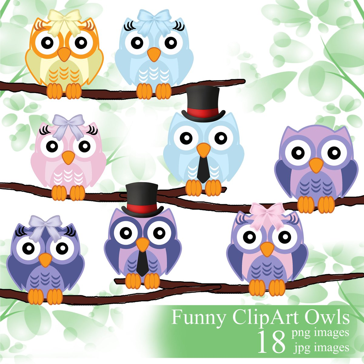 Excited to share the latest addition to my #etsy shop: Owl digital clipart, owls clip art set, owl digital print, owl digital clip, owl illustration, owl decorations for baby shower,  #art #drawing #purple #birthday #valentinesday #pink #back