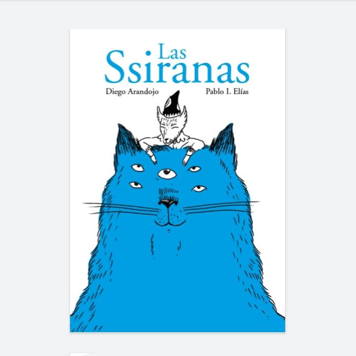 Un libro que dibujé hace un tiempo con txts de @diego_arandojo Puede descargarse y leerse de forma gratuita en estos tiempos de cuarentena.  _ #lasssiranas #diegoarandojo #book #minibook #libro #cuarentena #quarantine #monster #blue #cat #pabloeliasilustra