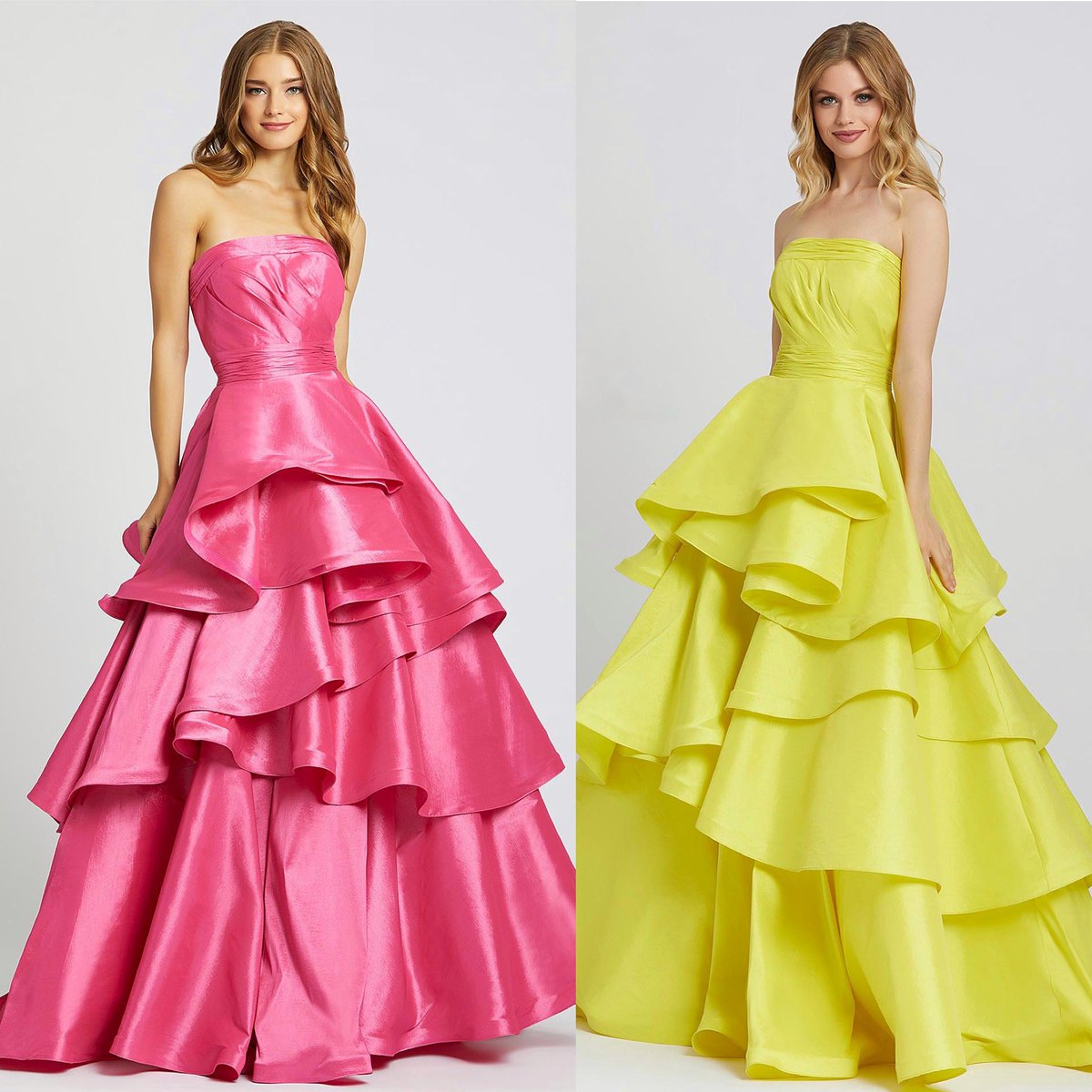 Pink or Yellow? {48884h} . . . .  #onlineshopping #onlineboutique #macduggal #ballgown  #gown #pink #yellow  #manhattan #elegance #new #prom #pretty #promseason #details #formal #new #love #spring #designer #dresses #dramatic #event #newyork #manhattandress