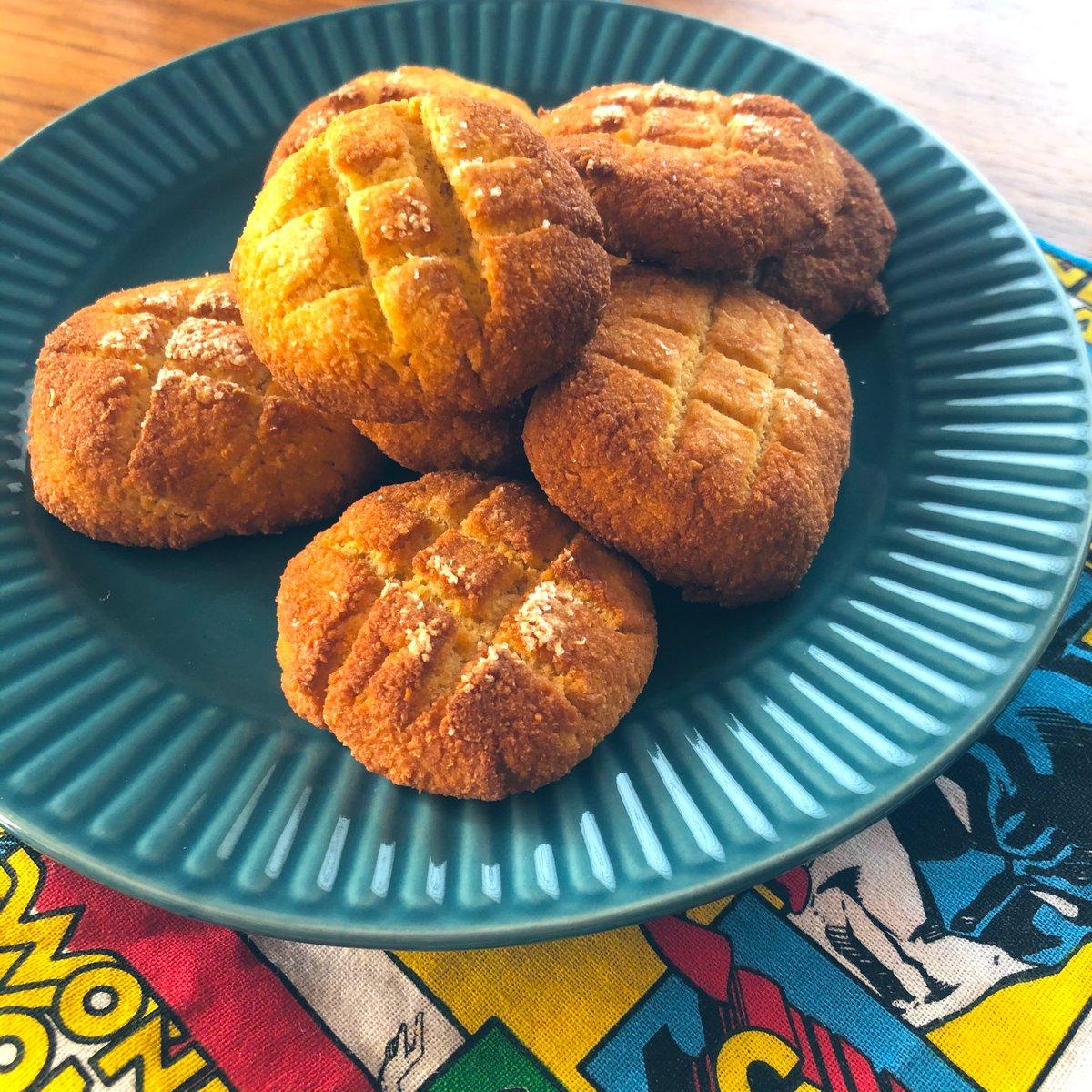 混ぜるだけで簡単なやつ👩🏻🍳外サク中フワで無限にいけそう😇早速なくなりそう🤦♀️しっとり生おからのケーキ風メロンパン by koutamama☆