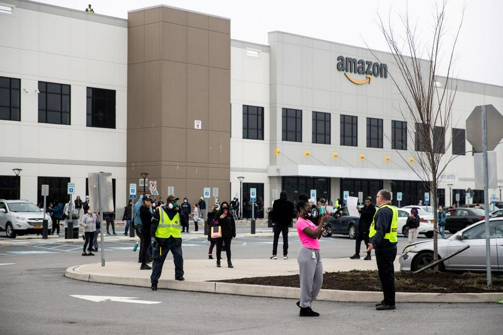 Amazon testing disinfectant fog at New York warehouse after coronavirus protests