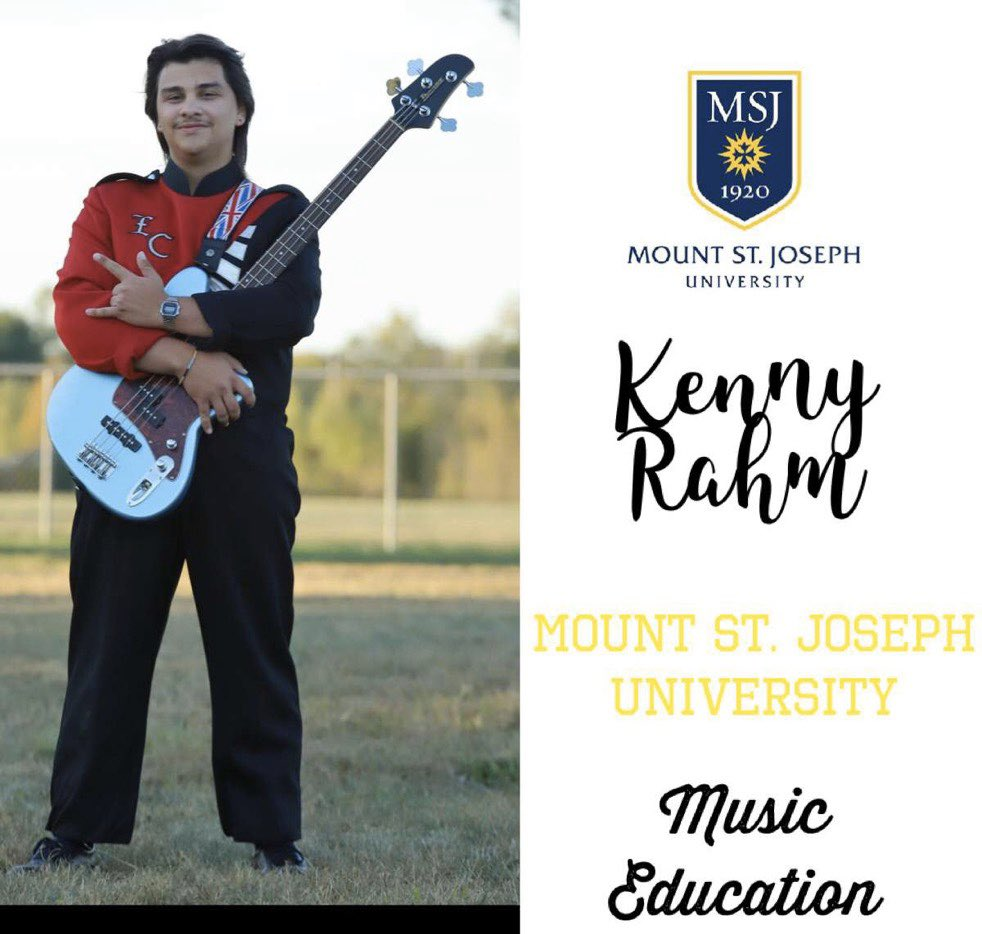 Kenny Rahm will be attending Mount St. Joseph University. He will be majoring in Music Education. Best of luck to you, Kenny! —> pic.twitter.com/YoUYtSrz40