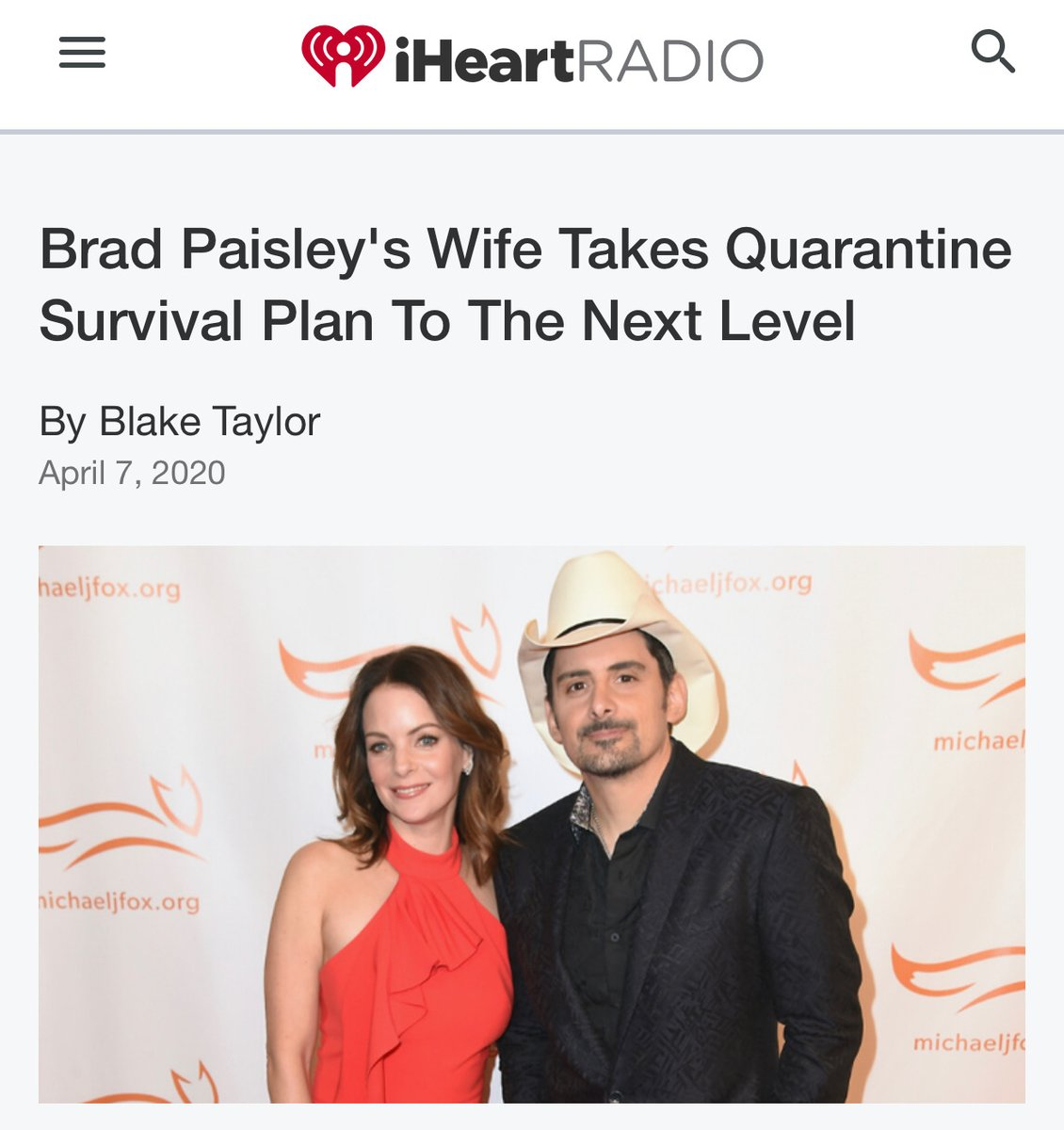I will NOT accept this headline referring to 👑Kimberly Williams-Paisley as Brad Paisleys Wife. She did NOT film 2 classic movies, 1 in which her character got pregnant at the same time as her mother (played by 👑Diane Keaton) for this type of disrespect.