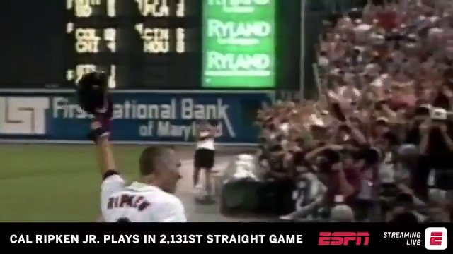 'Going, going, gone!' @CalRipkenJr. went deep on his record-setting night, and it was an absolute laser 💥