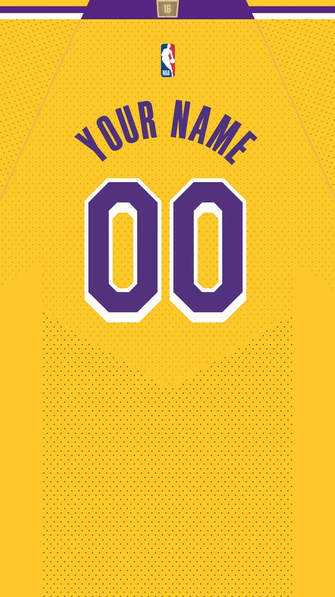 Special Edition #WallpaperWednesday for Lakers Nation.   Reply with your choice of jersey, name, and number to see if you're among the 100 chosen.
