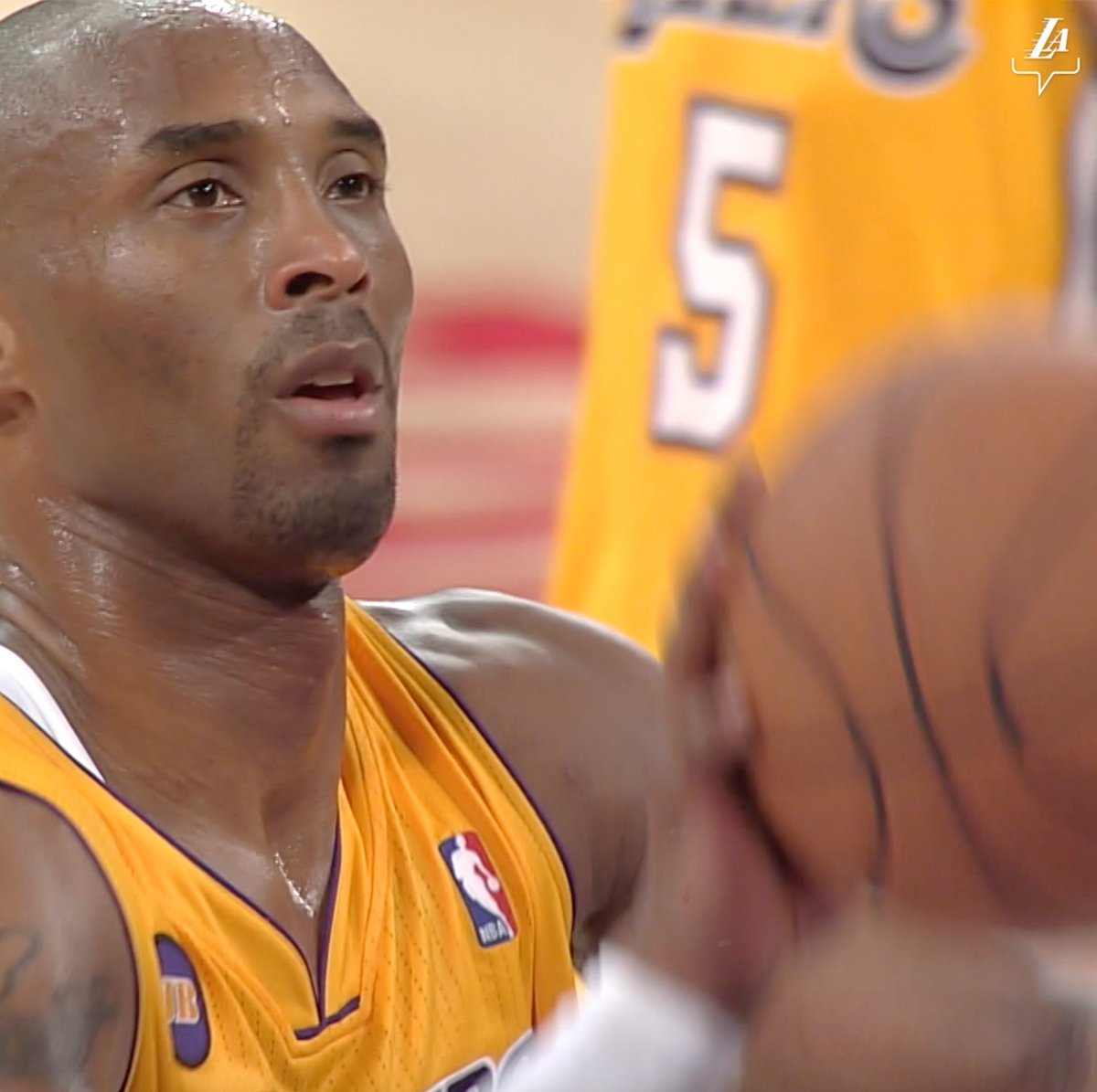 Free throws on a torn Achilles. #BestOfLakersWarriors