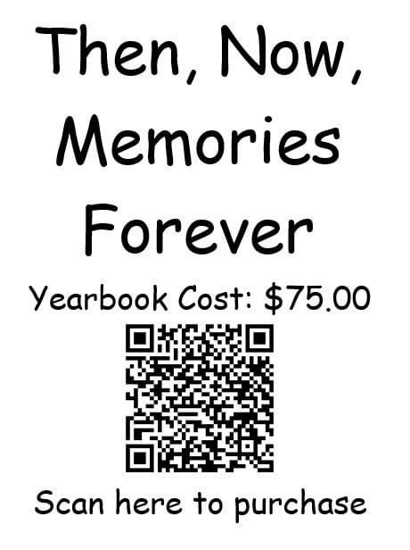 You still have time to purchase a yearbook. Scan to purchase.
