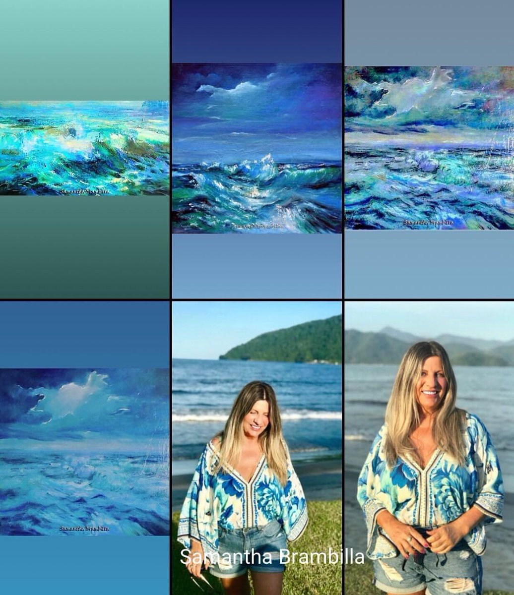 Artista Samantha Brambilla retrata na Pintura. Momentos nos mares#samanthabrambilla #mers  #landschaftsfotografie  #oilpaintingpic.twitter.com/cdRGmkubVV