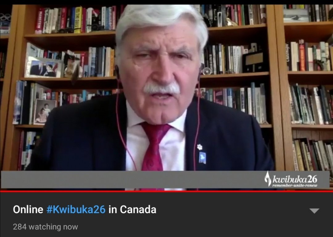 """Gen. @romeodallaire : """"It is high time we criminalized the act of denying the Genocide against the Tutsi in #Canada. The Government of #Canada should use it's power to weigh on this matter. Denying what happened in #Rwanda in 1994 is a perversion of History.""""pic.twitter.com/hOXQGILgo6"""