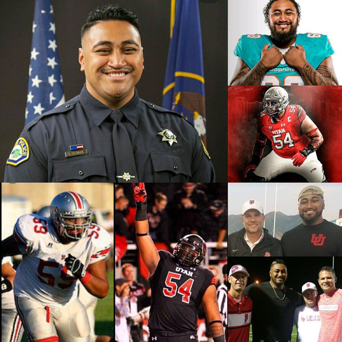 Spanish Fork Don ➡️ Utah Ute ➡️ Miami Dolphins ➡️ Provo City Police Force.  That a boy Issac Asiata! We are proud of you! #SFDons https://t.co/XQb6j2kAWj