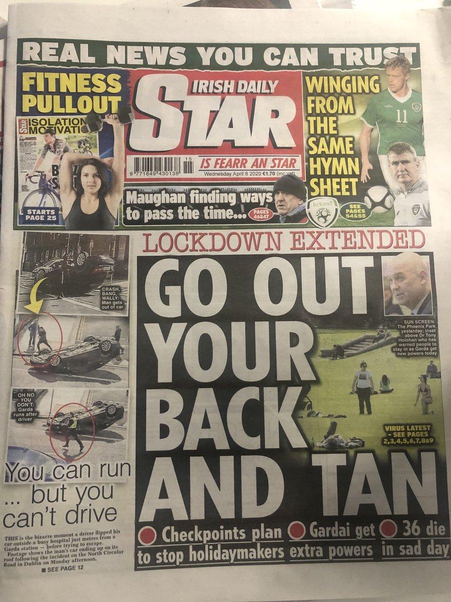 Headline of the day. #isfearranstar #covid19