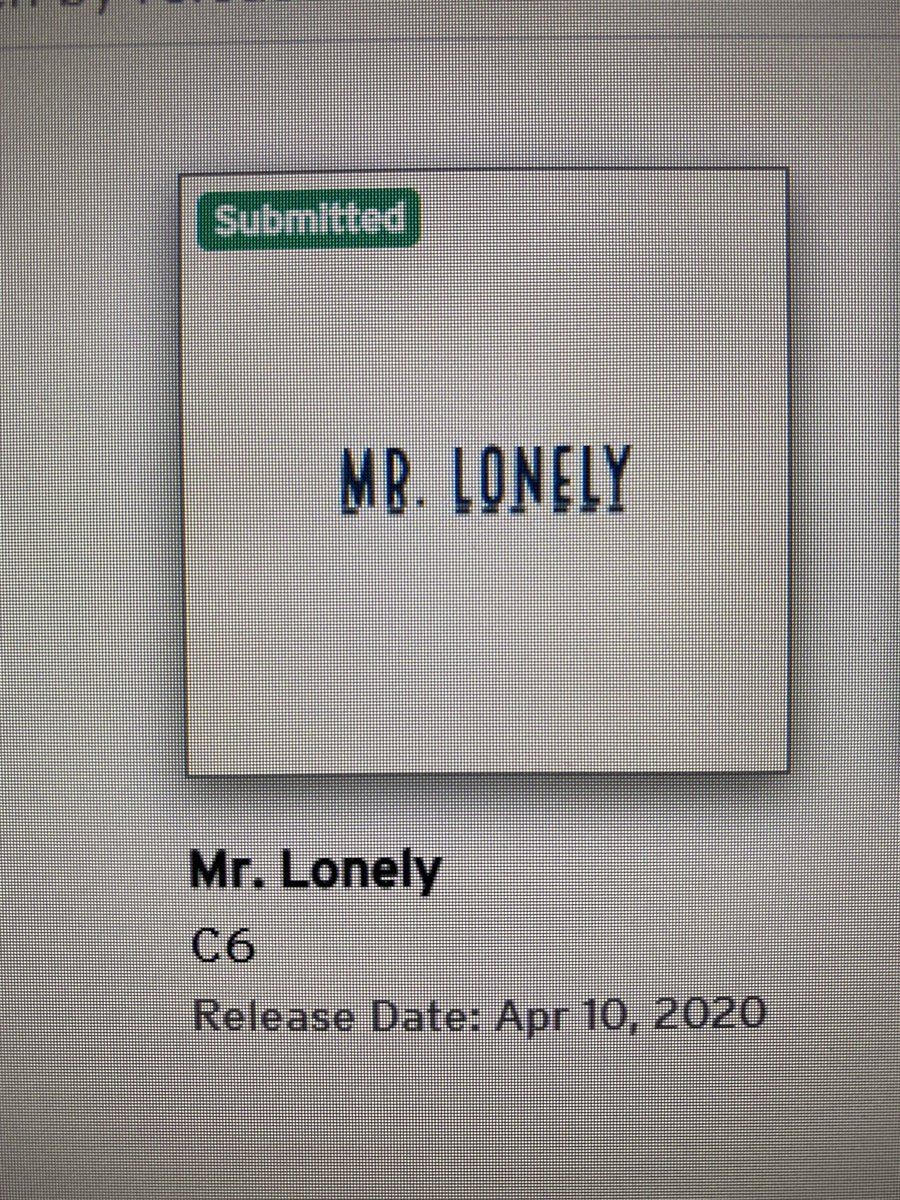 After a long hard battle with procrastination and empty pockets... Mr. Lonely out on all platforms april 10th.. spread the word...#newmusic #newmusic2020 #newartist #applemusic #spotify #youtubemusic #music #tiktok #fyp #fy #foryou #unsignedartistpic.twitter.com/tz5u91wb4r
