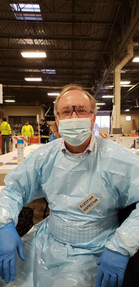 Heres @SpeakerVos. He put voters' health & lives at risk by refusing to postpone the election. He is wearing #PPE that frontline health care workers need to protect themselves & save lives. Wisconsin still doesnt have what we need because @realDonaldTrump hasnt delivered it.