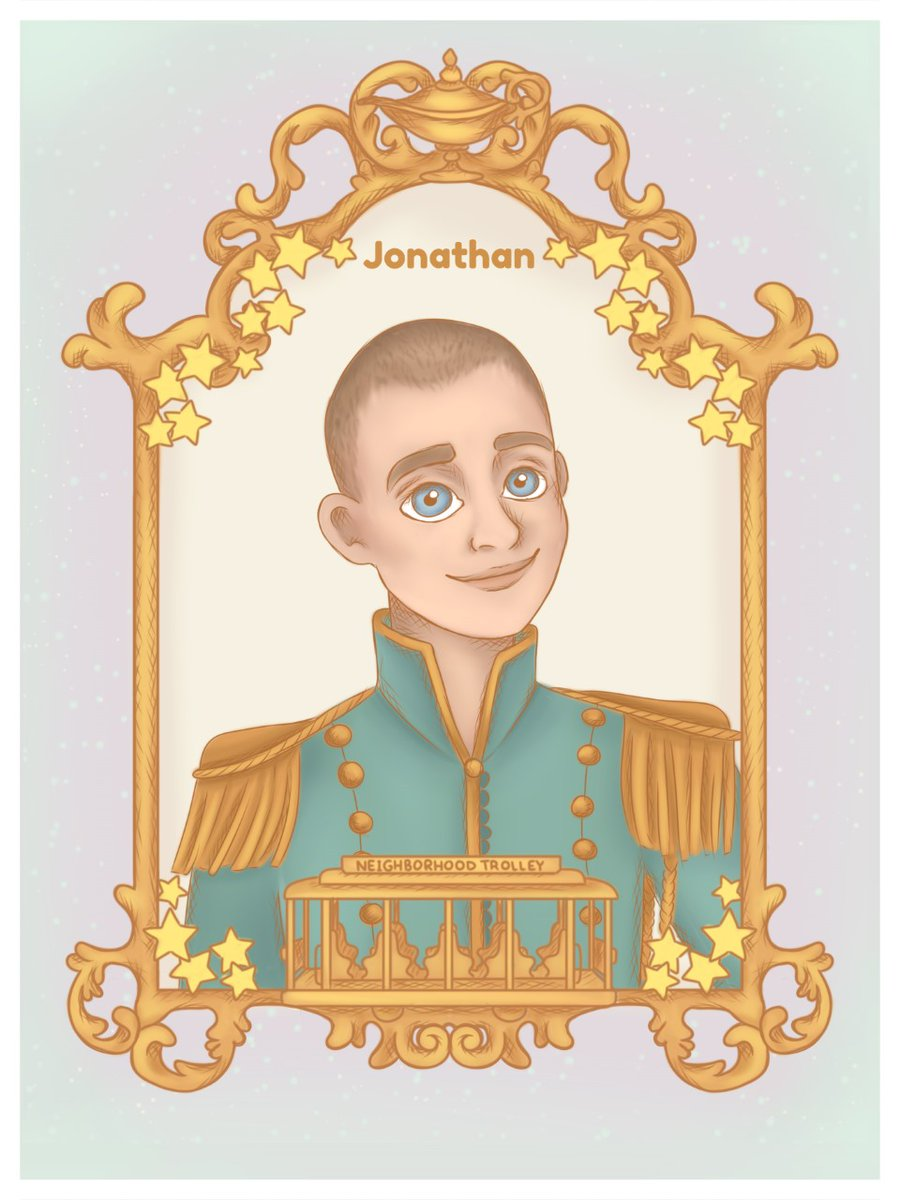 One of our fellow #neighbors is helping us #remember to open our #hearts, so that our #wishes can come true. 💞🌠  #ThankYou @MyFriendsOfThe1 for creating this beautiful portrait illustration, a blend of @DisneyAladdin #magic with the heart of #MisterRogersNeighborhood. 🤴🚎