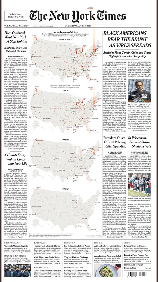 Tomorrow's NYT front page makes it clear: Black Americans getting hit by this plague in a devastating way