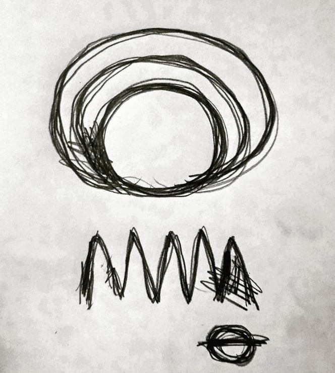 """#draweveryday #everyday """" #floating #light over the #forest """" #pencil on paper http://www3zuni.com #sciencefiction #art #strange #lines #abstractart #abstract #ufo #minimal #Glasgow #february #mystery #Scotland #lines #symbol #aliens #closeencounters"""