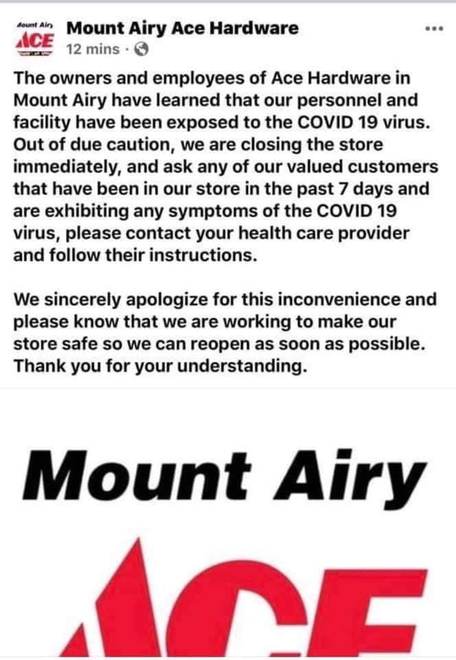My. Airy MD! Only a few miles away from the Pleasant View Nursing Home!! This is spreading through the Mt. Airy area! EVERYONE needs to stay at home! Why is this so difficult for every1 to understand? @GovLarryHogan @fox5dc @ABC7Kevin @nbcwashington @CBSNewspic.twitter.com/VUZPXaI1N3