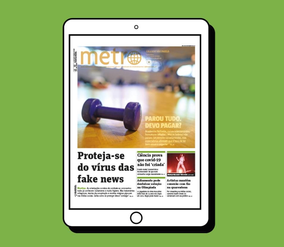 .: Metro Jornal lança edição digital entregue gratuitamente por e-mail  Texto no link:   .: #MetroJornal #ediçãodigital #edicaodigital #grátis #gratis #gratuitamente #gratuita #gratuito #jornal #jornalgrátis #jornalgratis #jornalgratuito #notíciasgrátis