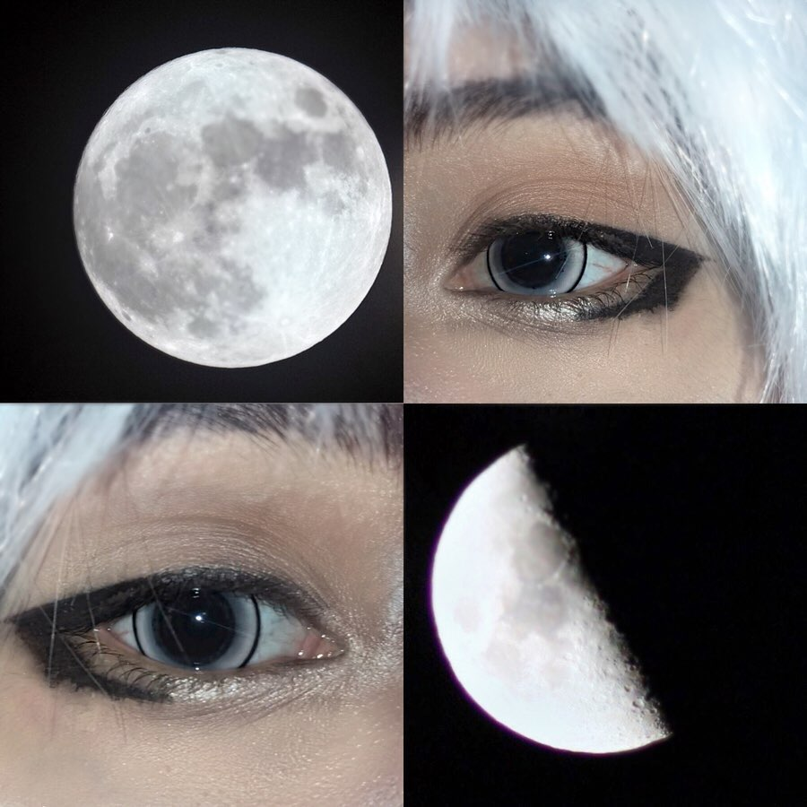 We love this close up pic from @blxxdkingg showcasing the Princess Pinky Eclipse Grey lenses  How was the #supermoon for u last night?  Get your own eclipse pair at https://bit.ly/2Vg2Ljg . All colored contacts are now $16! Don't miss out! #cosplay #eotd #mua #fullmoon #animepic.twitter.com/MUwZzGP1PW