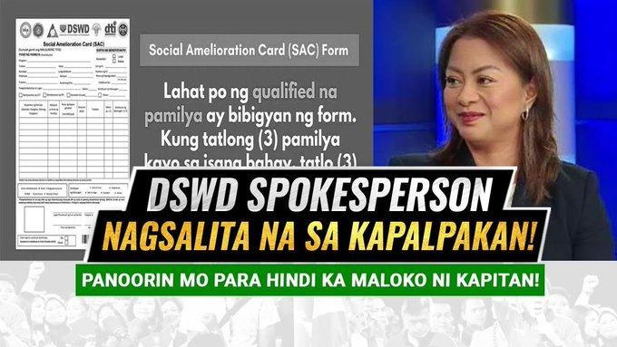 ITO NA! DSWD Spokesperson IRENE DUMLAO NAGPALIWANAG NA SA KAPALPAKAN NG PAGBIBIGAY SA 5K TO 8K -  (2020)