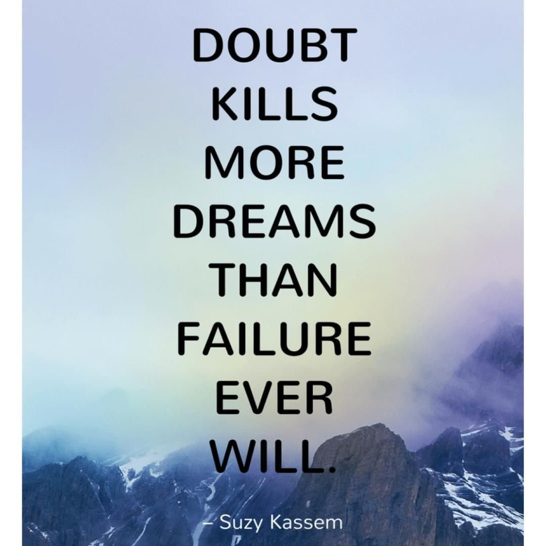"""Doubt kills more dreams than failure ever will."" – Suzy Kassem http://bit.ly/2JnGg5I . . . #growyourbusiness #mominfluencer #mominbusiness #womeninbusiness #workingmomlife #authenticself #womeninbiz #smallbusiness #smallbizowner #smallbusinesslife #workfromhomemumpic.twitter.com/oDH5HCEaJQ"