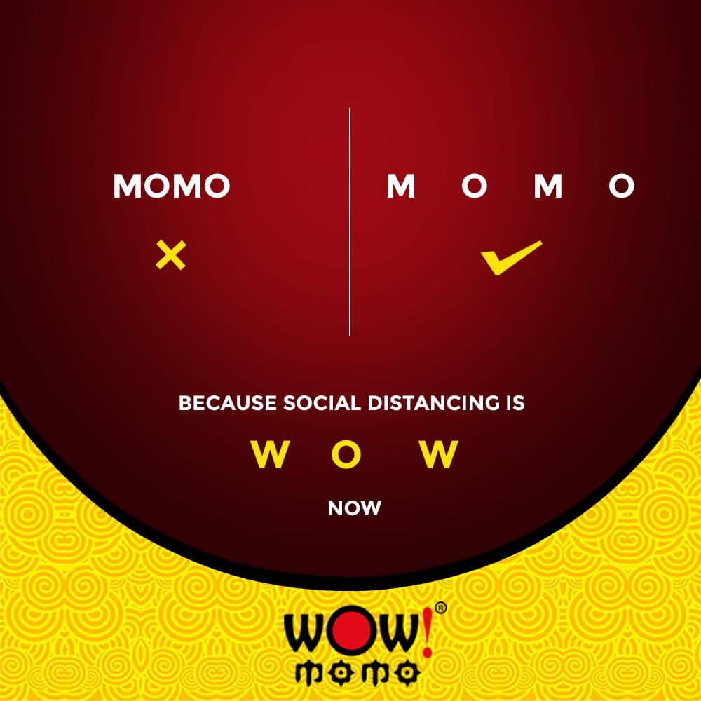 Because divided, we will be stronger and will give a better fight. Practice social distancing and let's pray for 'Wow' days ahead.  #Hygiene #Taste #Health #Snack #Food #WowMomo #OrderNow #Snacks #HealthySnack #Foodies #VegMomos #ChickenMomos #MomoLove #TeamWow #FoodIsLove