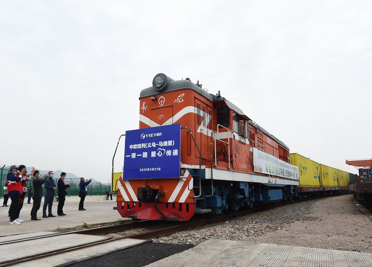 Freight train services linking Chinese cities with #Europe are becoming increasingly popular with traders on both sides, as commercial activities of shipping companies and airlines are suspended or restricted due to the #COVID_19 outbreak. #railway https://bit.ly/3e5OWg8