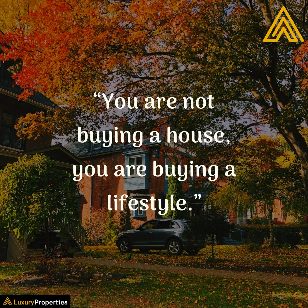 """You are not buying a #house, you are buying a #lifestyle.""  Check out your dream home from world-class builders here-   #realestate #realtor #realestateagent #home #property #forsale #investment #realtorlife #dreamhome #TuesdayThoughts #luxuryproperties"