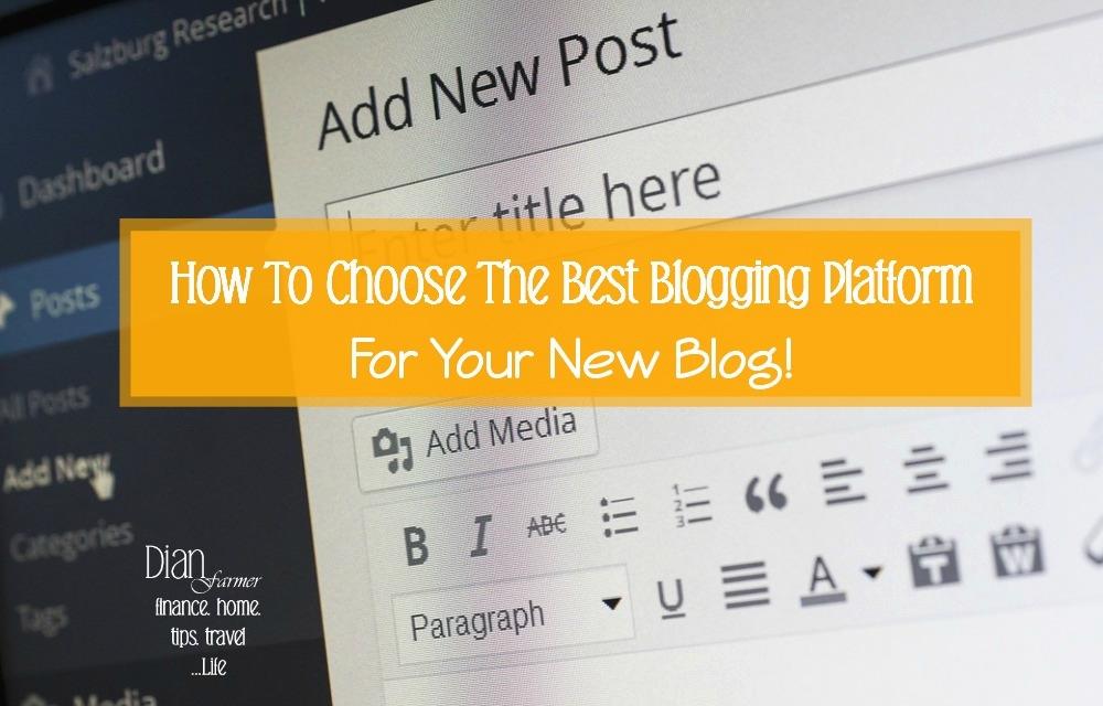 How To Choose The Best Blogging Platform For Your New Blog!   . . . .. #blog #blogs #blogg #bloggerslife #lifestyle #lifestylebloggers #budgeting #budgetblogger #budgetliving #DianFarmer #tips #ontheblog #lifestyleblog #lifestyleblogger #weeklyreso