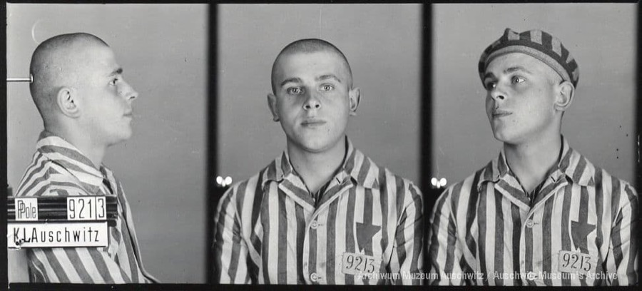 8 April 1921 | Pole Tadeusz Imiołek was born in Dołuszyce. A hairdresser.  In #Auschwitz from 10 January 1941. No. 9213 (political prisoner) He survived.pic.twitter.com/06mcREWBBJ