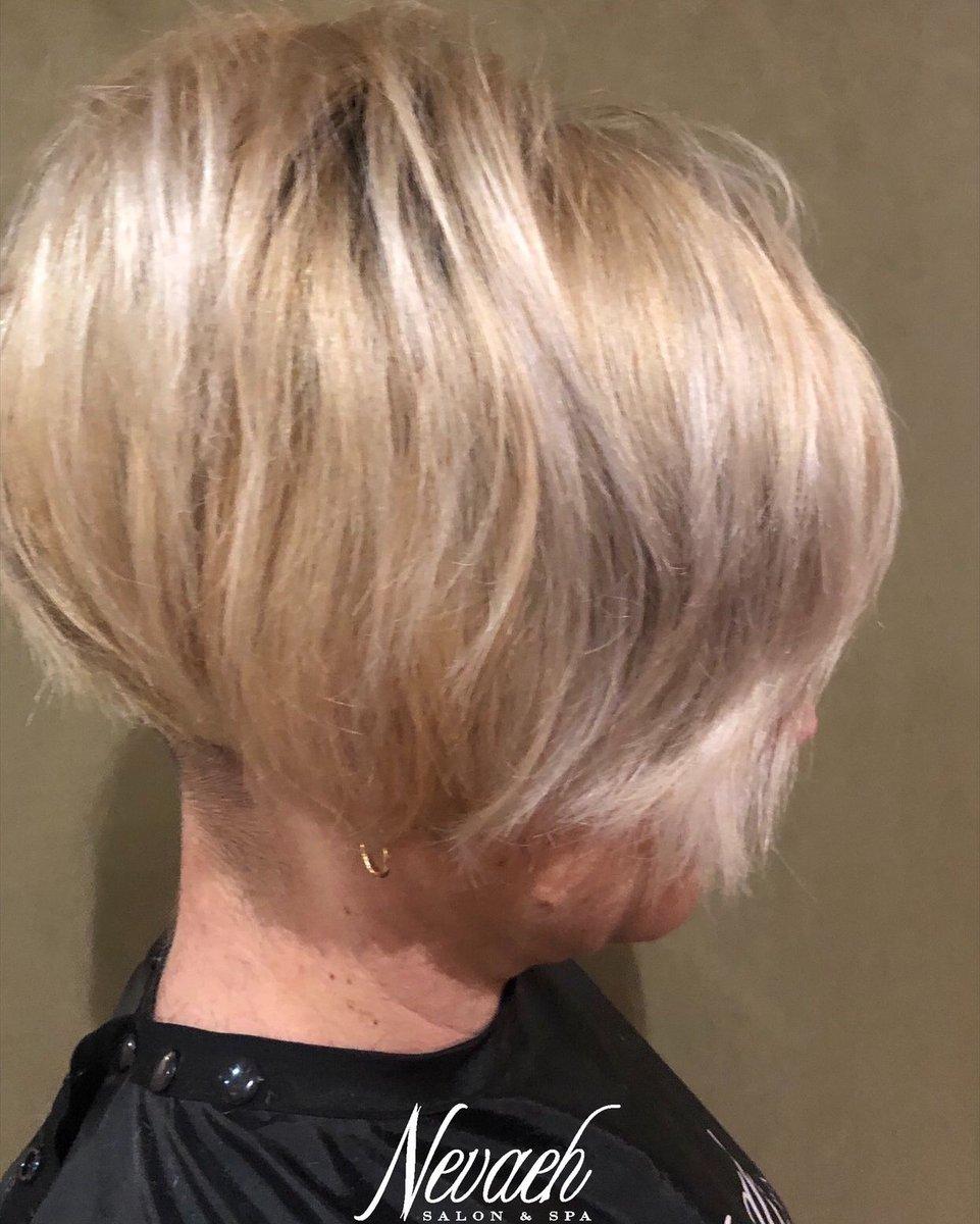 Short and sassy dimensional blonde by Alissa #nevaehsalonspa #nevaesalonspaminerva #blonde #shorthair #angledbob #stackedbob #instahair #hairgoals #beautygram #ShortHairDontCarepic.twitter.com/KhlayT2w5G