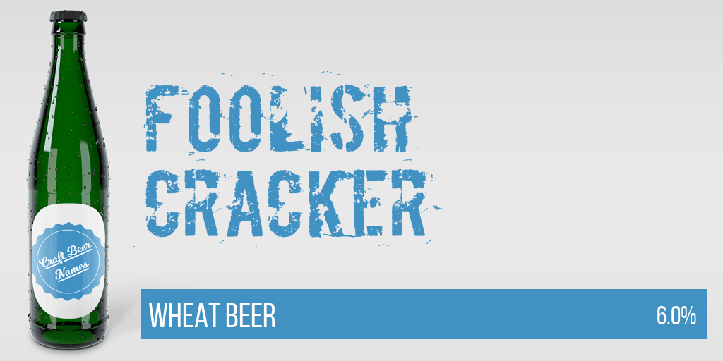Now pouring: Foolish Cracker Wheat Beer #beer #craftbeer pic.twitter.com/GGfOBVG5sl