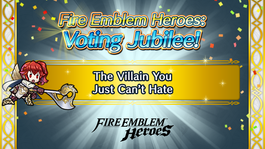"The third category in the #FEHeroes: Voting Jubilee event is...The Villain You Just Can't Hate! In a world where everything isn't cut-and-dry, which so-called ""villain"" do you sympathize with? Vote now at the link below!  https://t.co/8rMDh8cPxJ https://t.co/tSugm0wMSU"