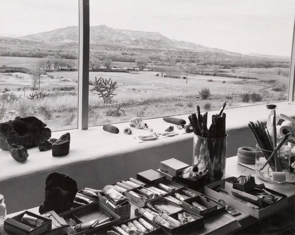 View from studio window of Georgia O'Keeffe, 1960 by photographer Laura Gilpin #womensart