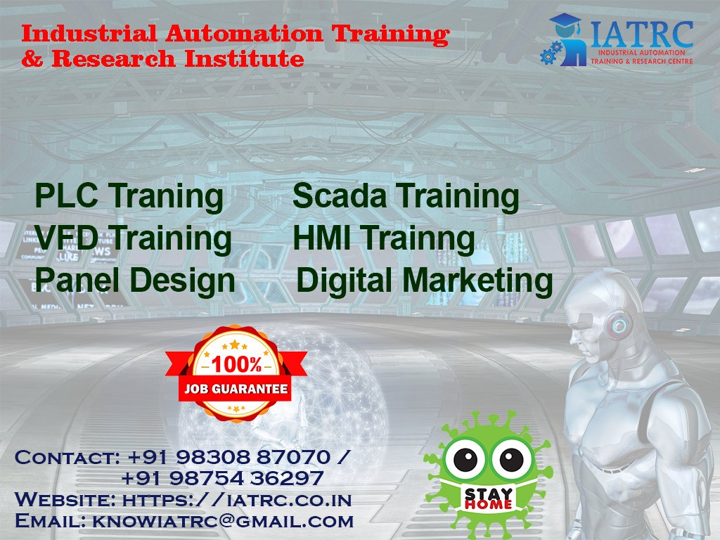 Enroll yourself to the best job oriented Industrial Automation Training & Research Institute (PLC, SCADA, HMI, VFD Training) #IATRC. #IATRC #Training #Automation #PLCtraining #HMItraining #SCADAtraining #Industrialautomation #drivetraining #vfdtraining #PLC #HMI #SCADA #autocad