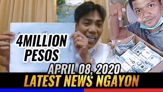 LATEST NEWS TODAY APRIL 8, 2020 FRANCIS LEO MARCOS NAGULAT SA LAKI NG DONASYON SA MAYAMAN CHALLENGE -  (2020)