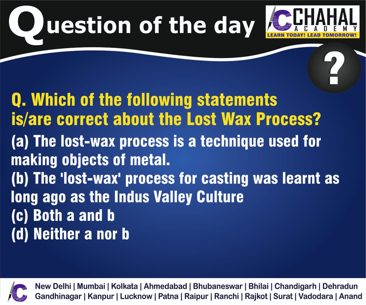Question of the Day  Answer - C  #8thApril2020 #Questionoftheday #UPSC2020 #IPS #IBPS #governmentexam #Currentaffairs #iasquestion #UPSCQuestion2020 #dailyquiz #coachinginstitute #iascoachingcenter #IASquestions #civilserviceexam  Visit:- http://chahalacademy.compic.twitter.com/i8SqyaqmS0